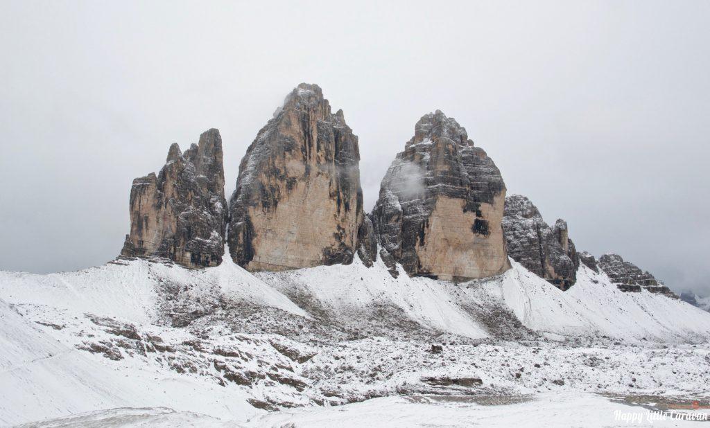 Neve sulle Tre Cime di Lavaredo