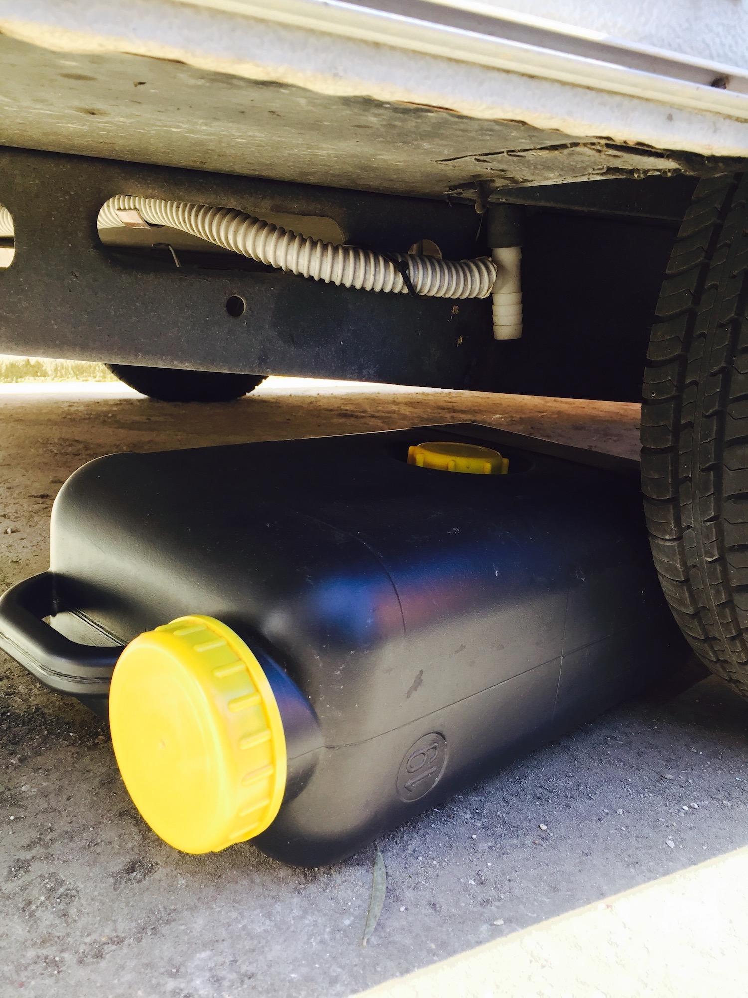 Fresh Grey Or Waste Water In Caravan Or Camper Happylittlecaravan