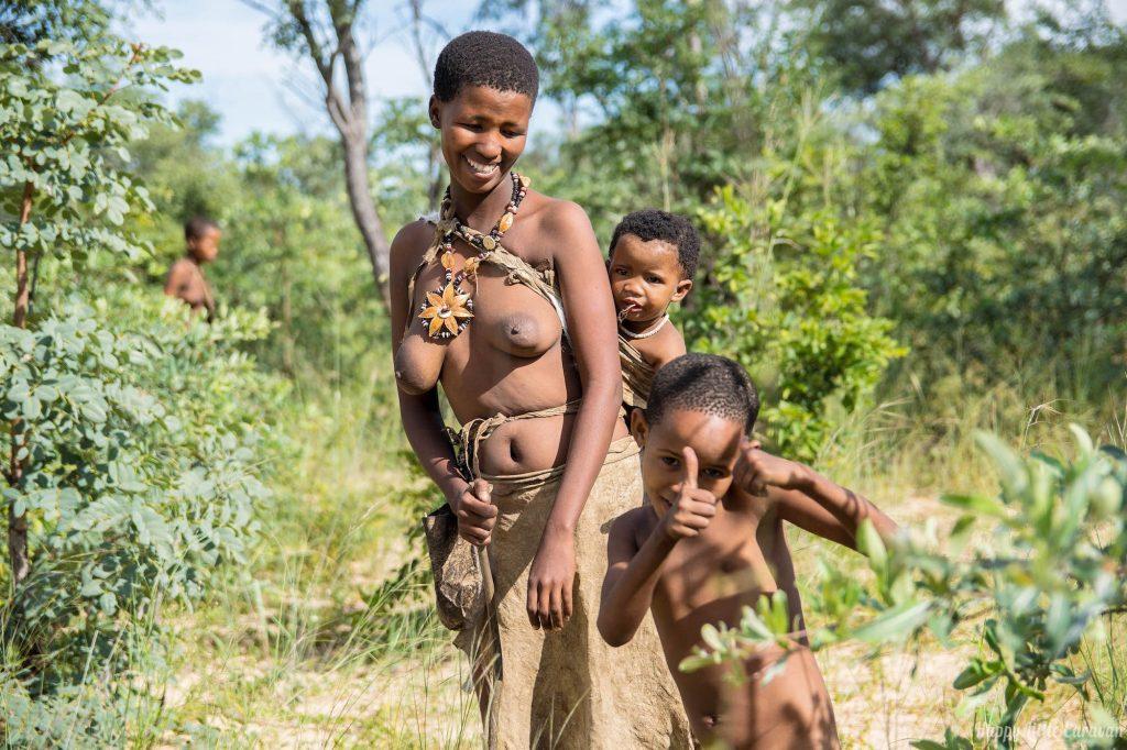 bushmen woman and children