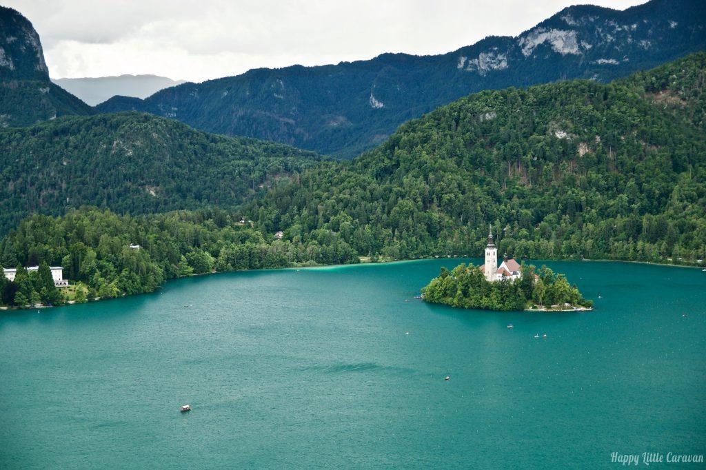 Lago di Bled dal Castello di Bled